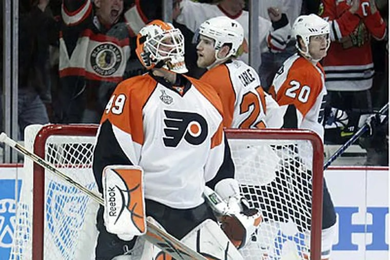 Michael Leighton is expected to start Game 6 against the Flyers. (Yong Kim / Staff Photographer)
