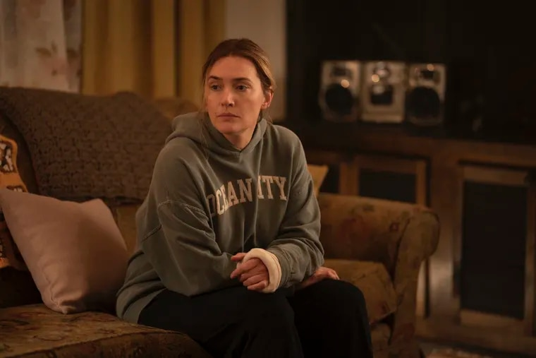 """Kate Winslet playing a Pennsylvania detective in """"Mare of Easttown"""" on HBO."""