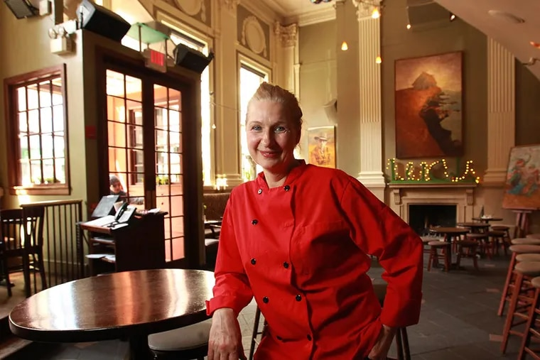 Chef Lenka Zivkovic on the main floor of the Plough & the Stars Restaurant where she will be offering a biweekly prix-fixe vegan menu. ( Michael Bryant / Staff Photographer )