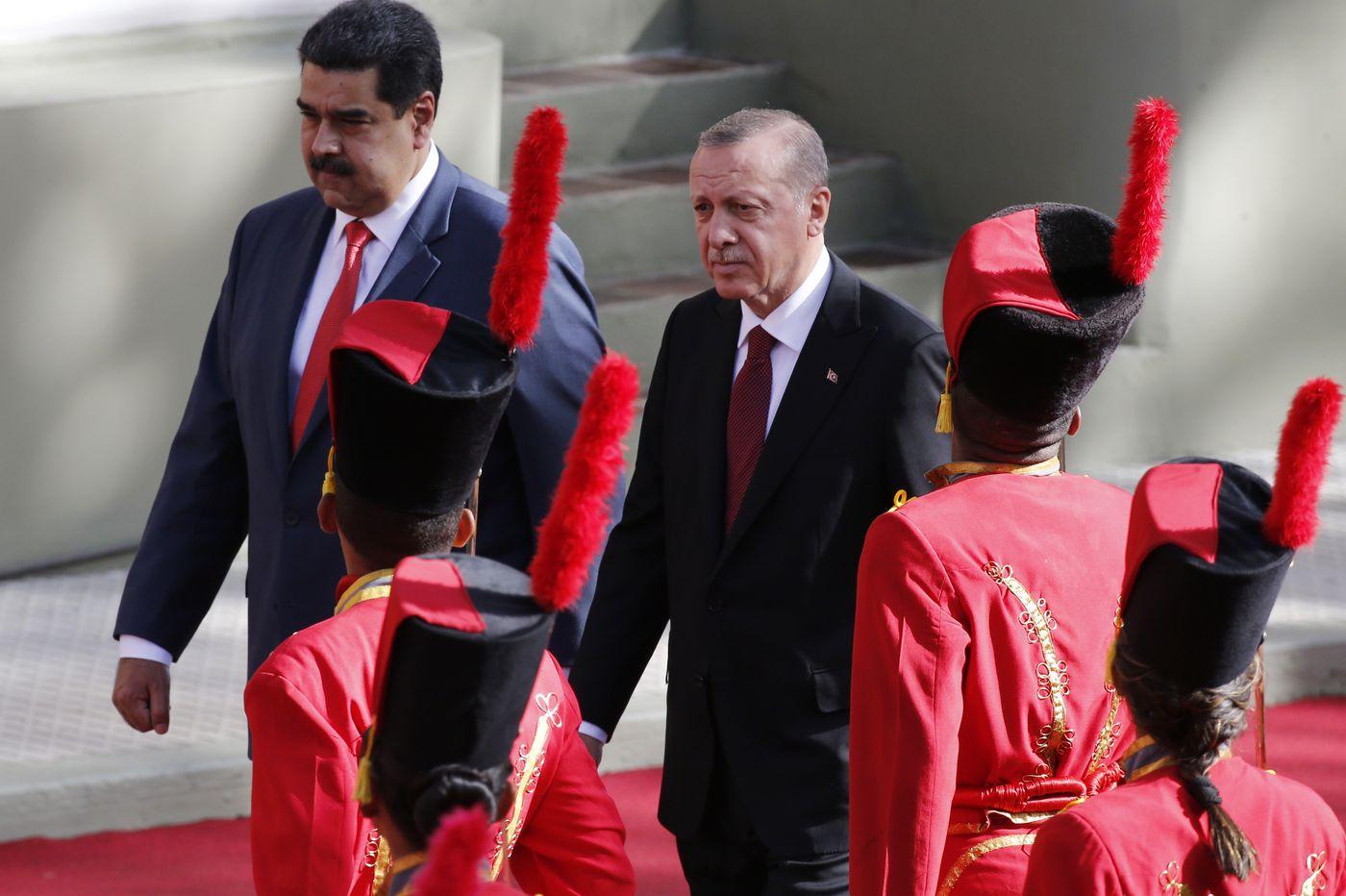 Turkish president praises Venezuela's leader in 1st visit