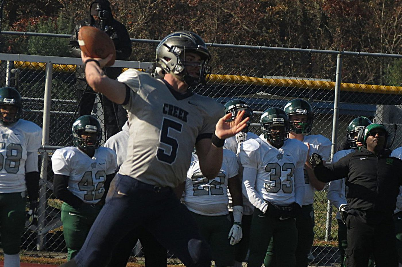 Timber Creek quarterback Devin Leary ends his South Jersey footbal career with a touchdown catch