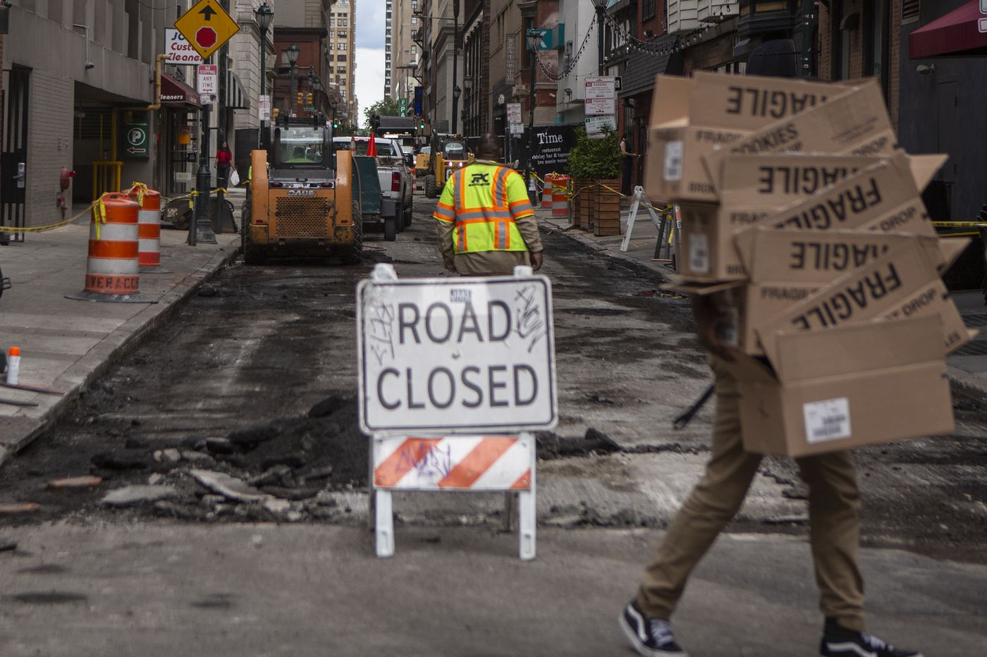 A year after massive Center City water main break, repairs finally wrapping up