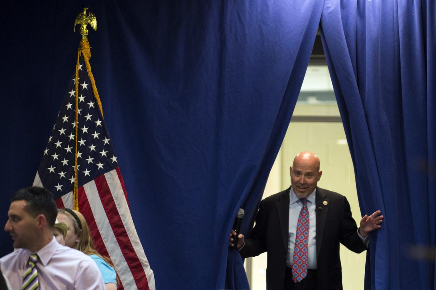 At MacArthur's office, a skirmish in the health-care battle