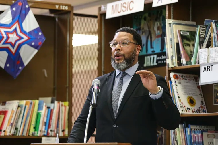 Otis Hackney, the city's chief education officer, announced an expansion of PHLConnectED, the $17 million program to connect needy families with free internet service. About 12,000 families have been connected so far, said Hackney, shown in this 2019 file photo.