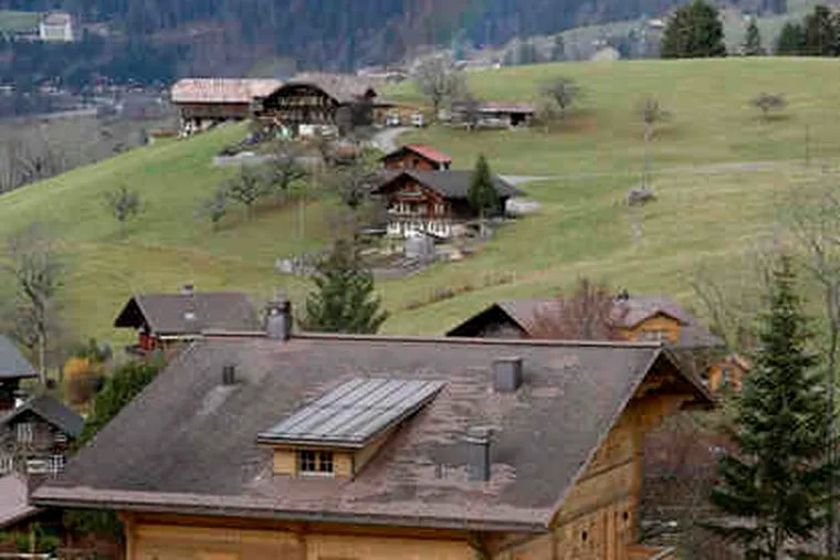 The Alpine chalet that is home - and currently also jail - to Roman Polanski. The director is fighting efforts to extradite him from Switzerland to Los Angeles for sentencing in a 1977 rape.