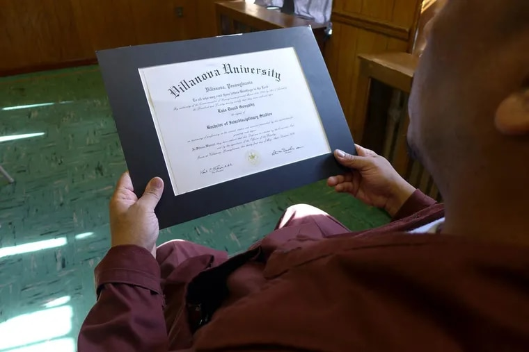 Luis Gonzalez, a Graterford inmate who is to be resentenced next month for a 1986 killing, graduated from the Villanova program last year.