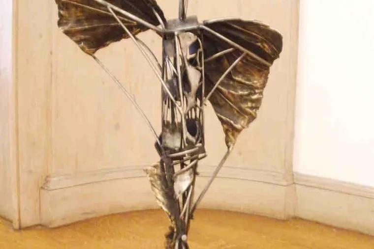 "Semion Rabinkov's stainless-steel ""Icarus"" at Abington Art Center."