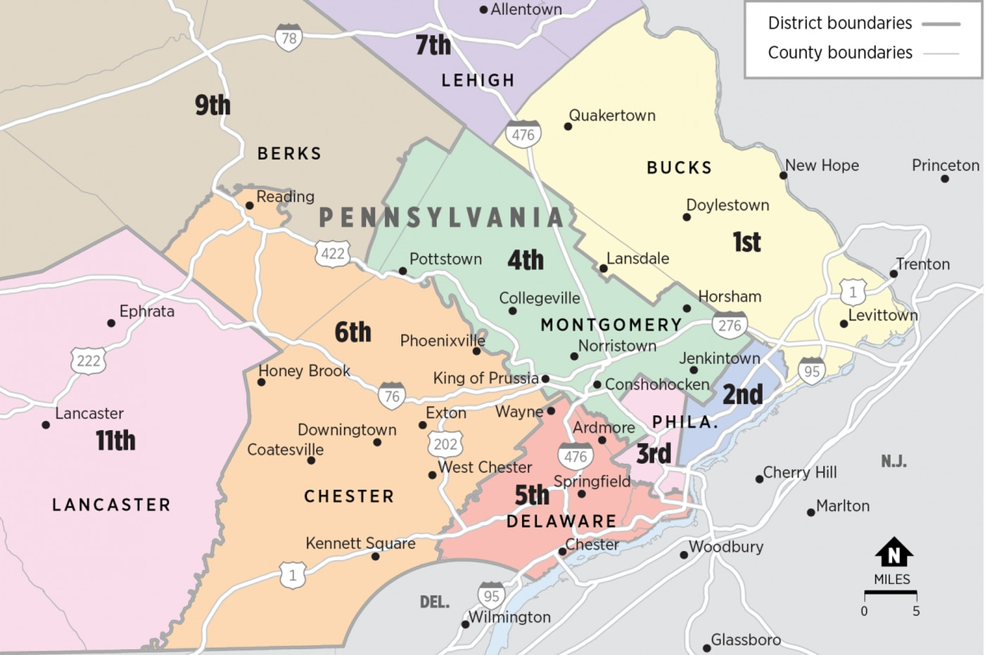 Federal judges hear arguments in Pa. congressional map fight: Should they block new map?