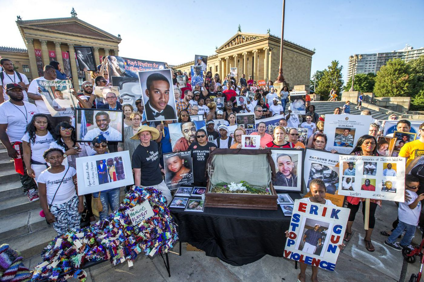 We called Philadelphians touched by gun violence to the Art Museum steps. And they came.