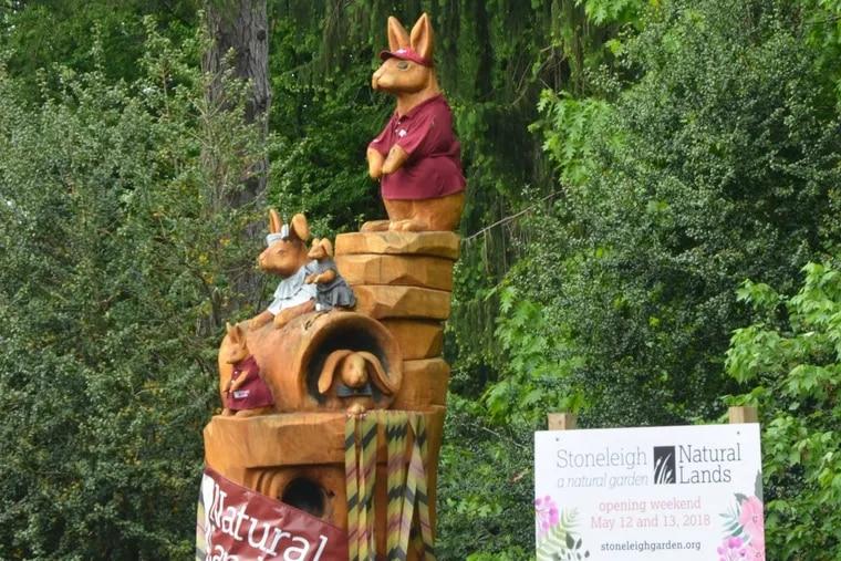 Stoneleigh gardens rabbit sculture