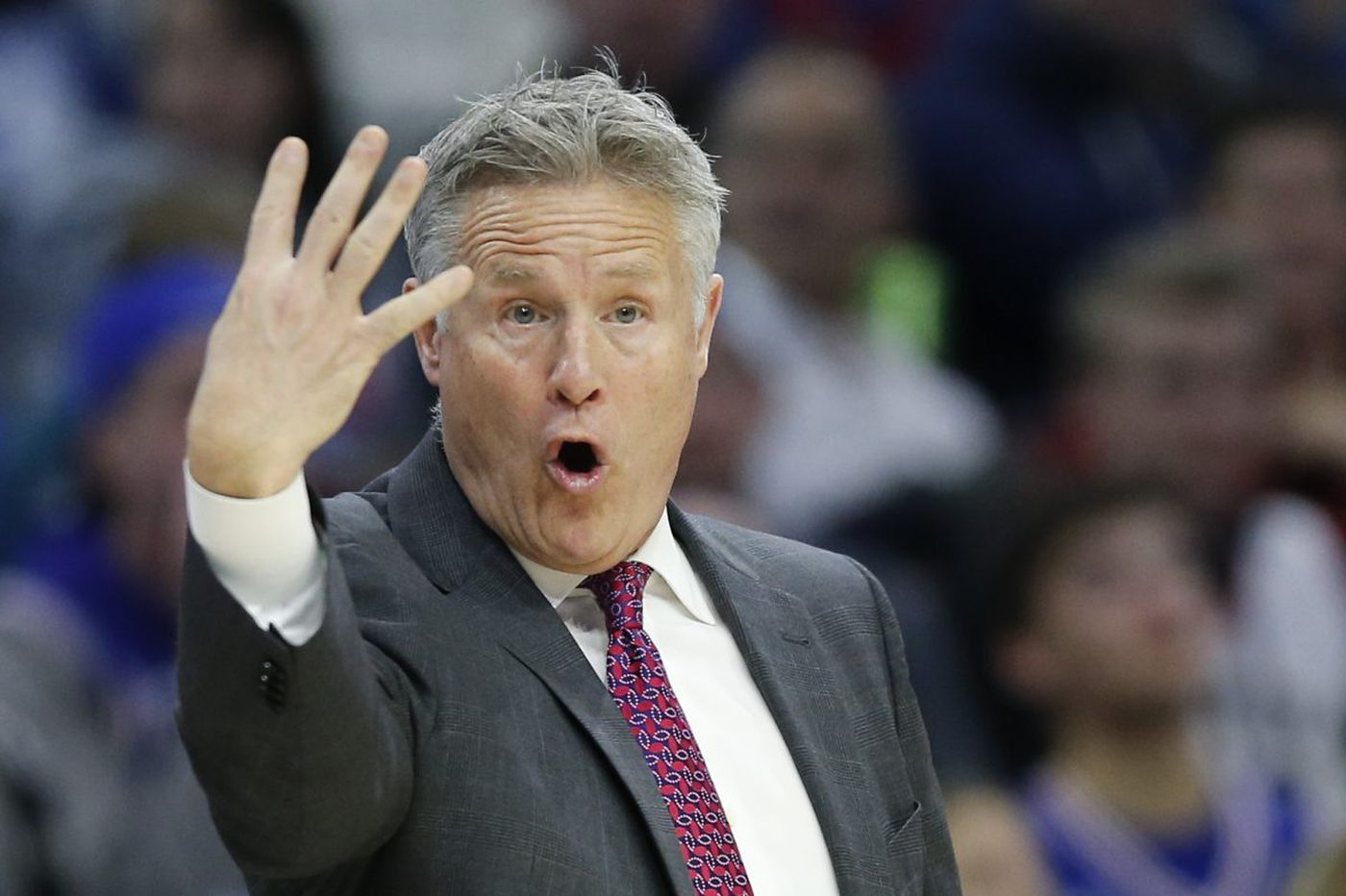 Sixers' Brett Brown on being fourth in Eastern Conference standings: 'We want to hold on to where we're at'