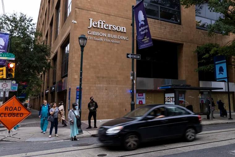 Gibbon Building at Thomas Jefferson Hospital in Philadelphia, Pa., on Wednesday, Oct. 6, 2021.
