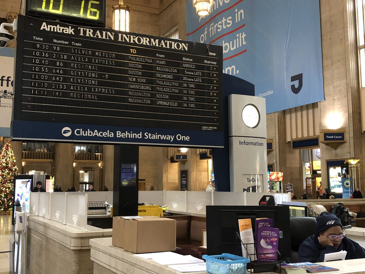 After talk with Philly congressman, Amtrak says it may keep flipboard at 30th Street Station