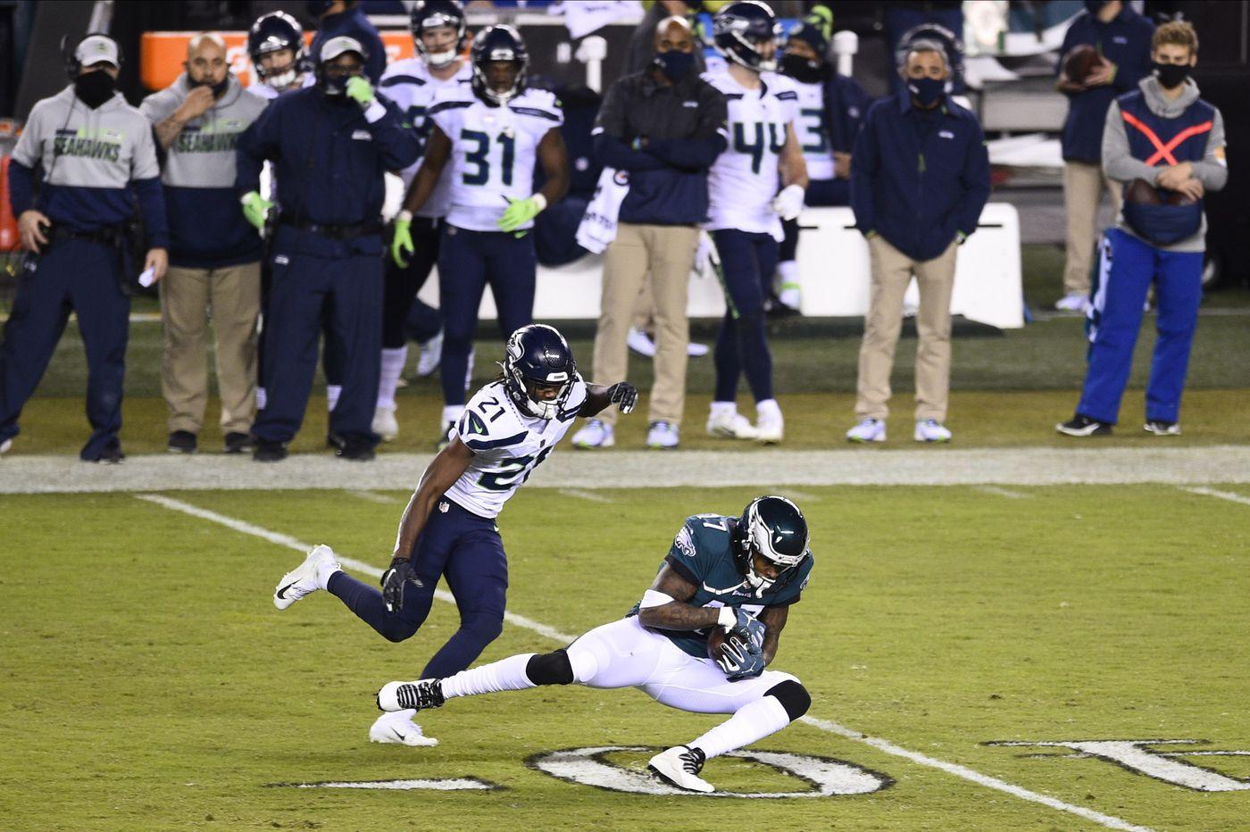 Why didn't the Eagles use Travis Fulgham more, Alshon Jeffery less vs. Seahawks?