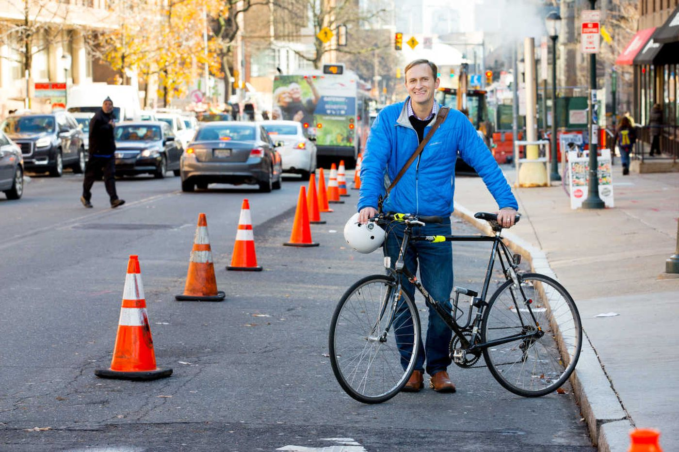 How a Philly guy, fed up with crashes, built his own bike lane
