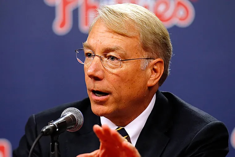 Phillies president Andy MacPhail.