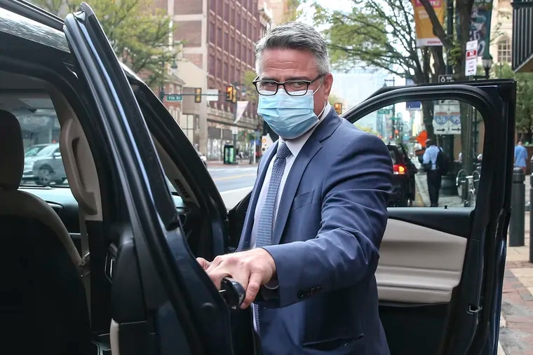 Philadelphia City Councilmember Bobby Henon  leaves the federal courthouse in Center City after jury selection in his bribery trial on Oct. 4