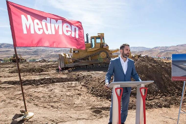 MedMen founder Adam Bierman at a groundbreaking for a new facility.