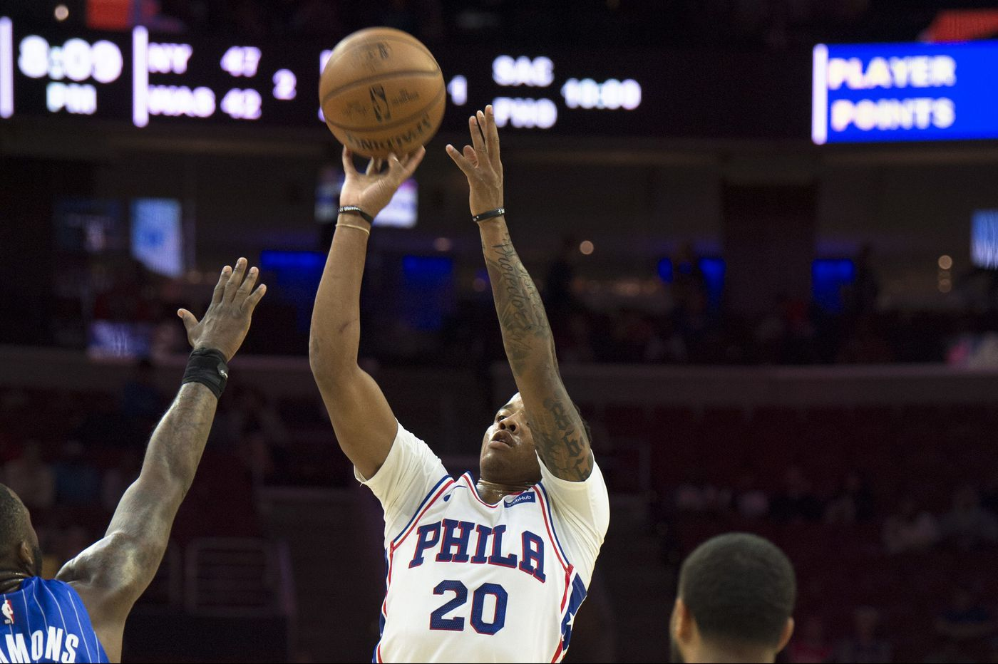 Sixers' Markelle Fultz hits first preseason three, Ben Simmons yet to attempt one