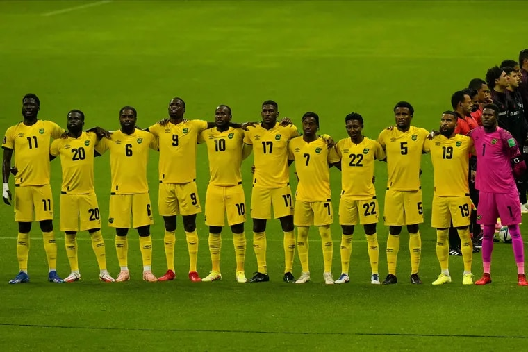 The Union's Cory Burke (9), Alvas Powell (5) and Andre Blake (1) started for Jamaica at Mexico on Thursday. Jamaica will host Panama on Sunday.