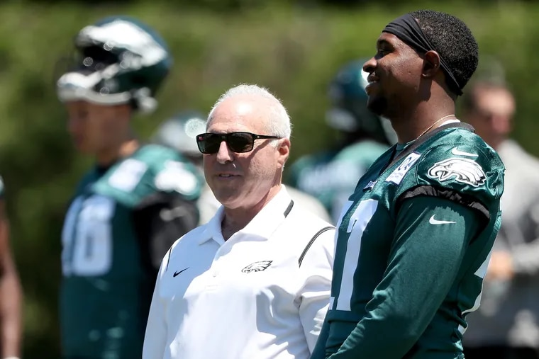 Eagles owner Jeffrey Lurie, here with Alshon Jeffery, is the loudest voice from Philadelphia in the pursuit of social justice.