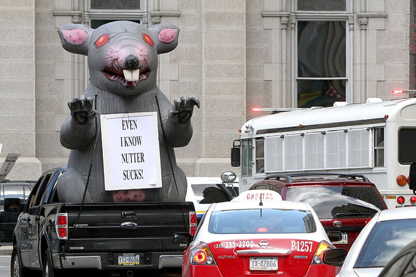 Local 98′s inflatable rat targeted in federal fight to outlaw the protest mascot