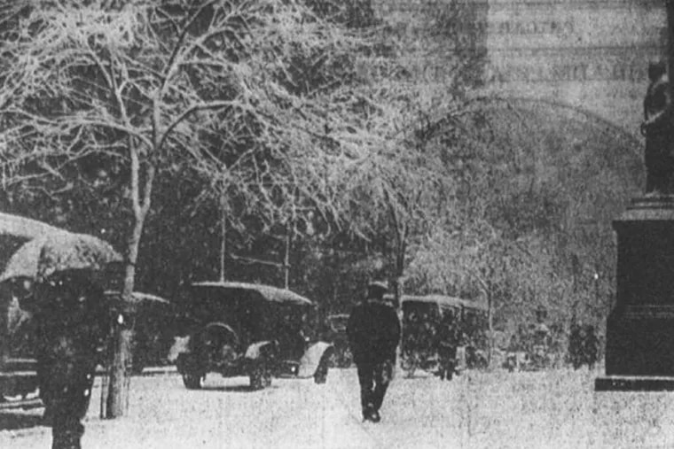 """The day before Easter in 1915, Philadelphia was socked with 19 inches of snow, despite a forecast of """"unsettled, rain likely."""""""