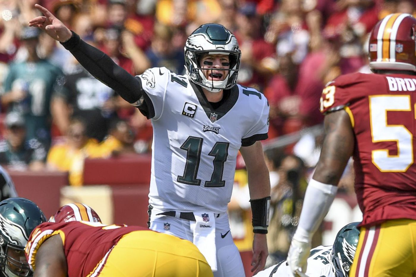Will Carson Wentz truly arrive Sunday? | Bob Ford