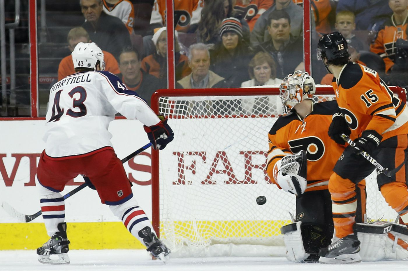 Flyers fall to Blue Jackets, ending four-game winning streak