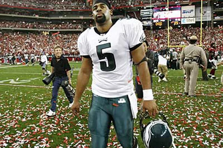 Donovan McNabb raised eyebrows with his comments about the Eagles' defense during a radio interview last week. (Eric Mencher / Staff Photographer)