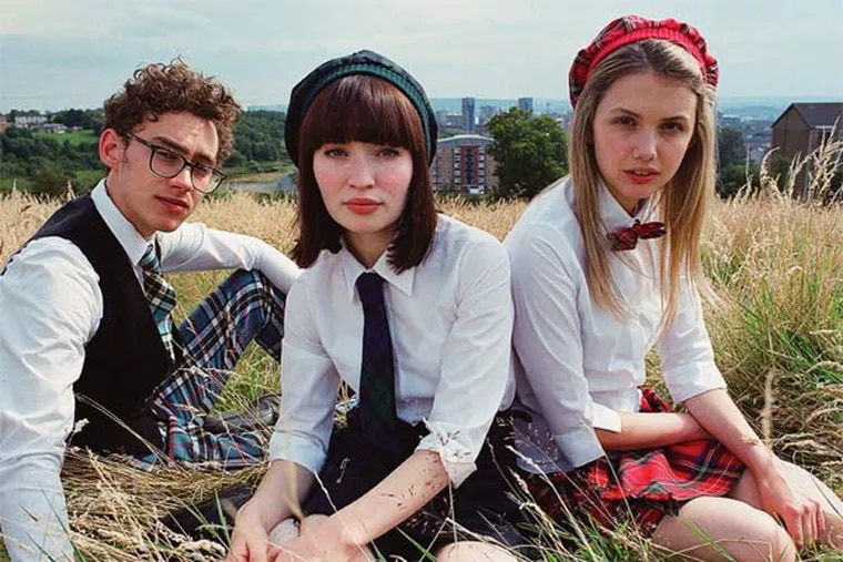Mopey strangers - (from left) Olly Alexander, Emily Browning, and Hannah Murray - meet, form a band, put on shows.