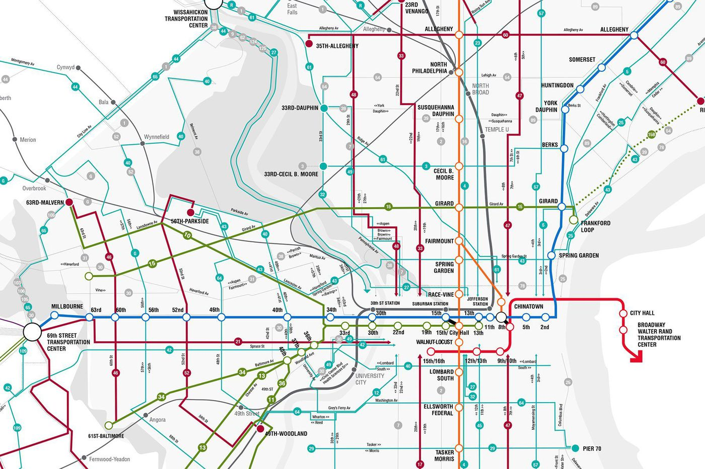SEPTA gives its bus network map an upgrade