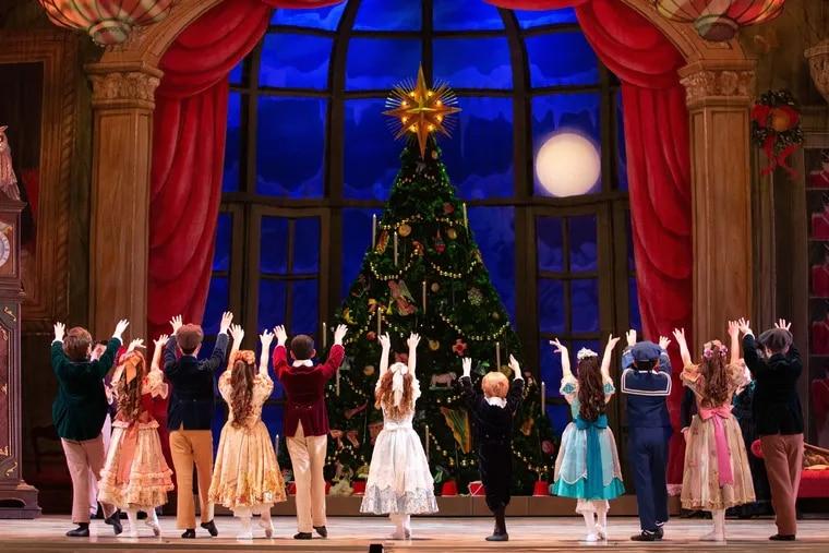 The party scene in Pennsylvania Ballet's Nutcracker.