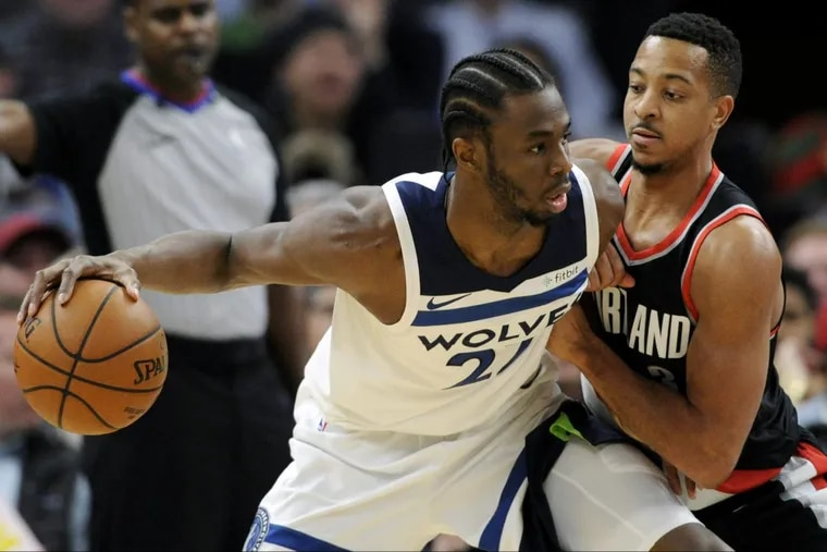 Portland's CJ McCollum, right, will try to rebound from his poor shooting performance against the Sixers.