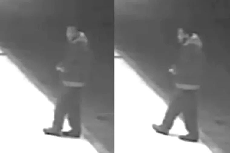 Investigators say this video surveillance footage offers a fairly clear look at a man who beat and choked a 33-year-old woman in an alley on Sergeant Street about 2 a.m. Monday.