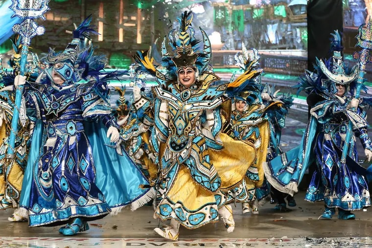 New Year's Day in Philadelphia is synonymous with the Mummers, who march down Broad Street on Tuesday, Jan. 1, 2019.
