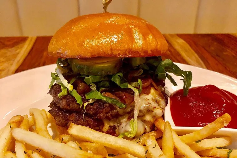 The burger at the Common, 3601 Market St.