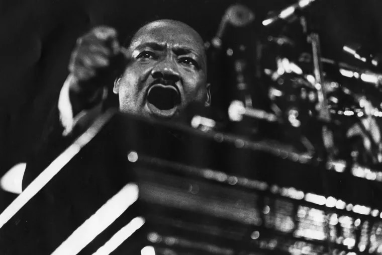 Martin Luther King Jr. speaking at Vermont Avenue Baptist Church in Washington in 1968.