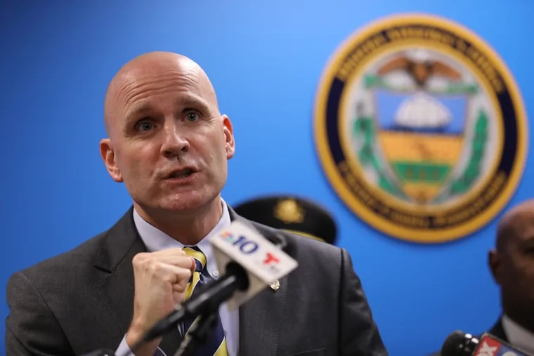 Chester County District Attorney Tom Hogan , seen at a press conference in September, accused some  state troopers stationed in the county of gross negligence in the way they handled a police-involved shooting earlier this year.