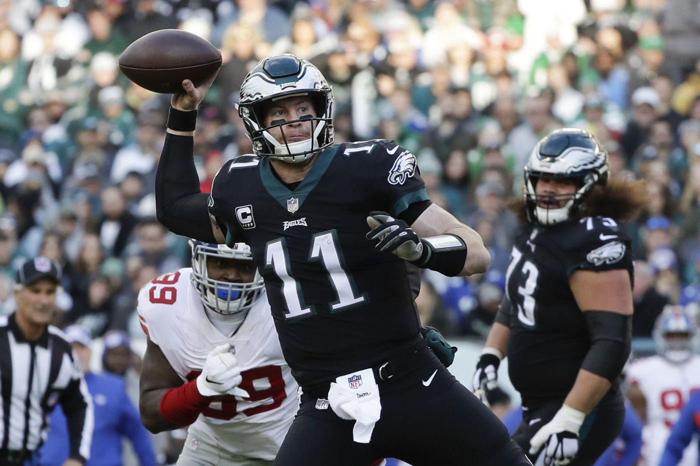 Carson Wentz and clutch: Words that go together well in Eagles victory over Giants | Jeff McLane