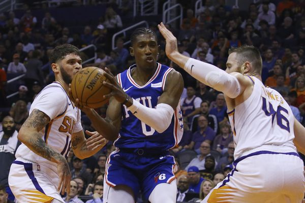 Sixers fall to Suns, 114-109, for first loss of season