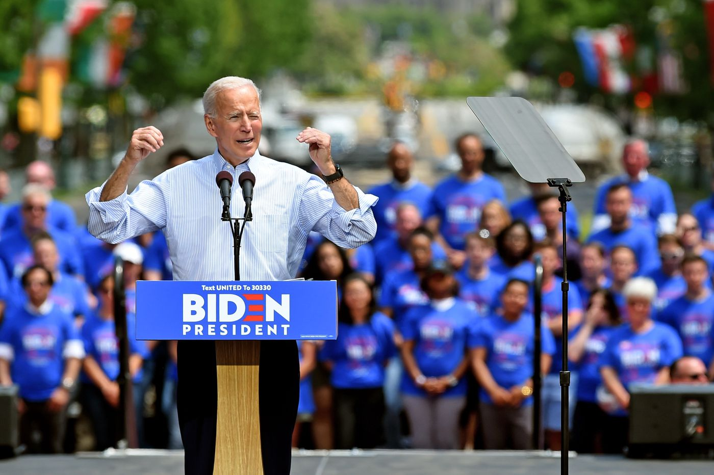 Joe Biden's campaign office opens in Philly with a protest, not a party | Clout