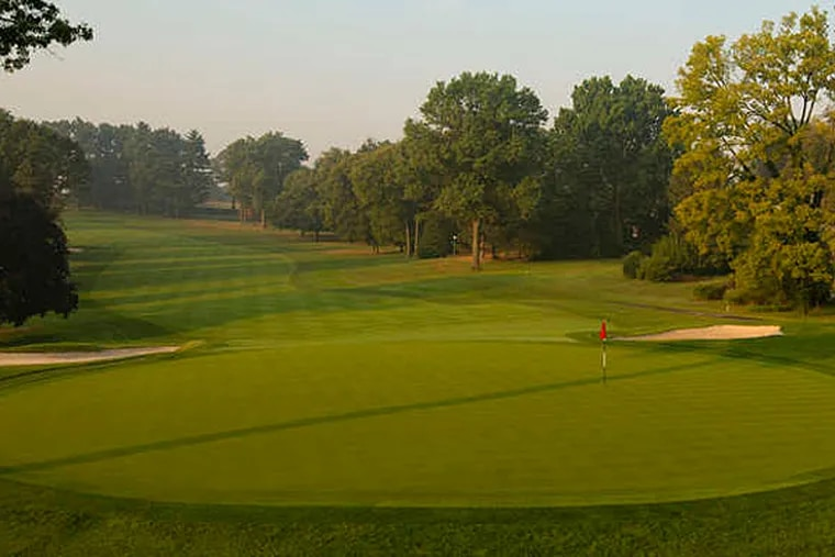 The par-4 10th hole is considered the toughest at the Lancaster Country Club. The course was designed by William Flynn, who was also responsible for some of the East's best-known courses. (Fred Vuich/USGA)