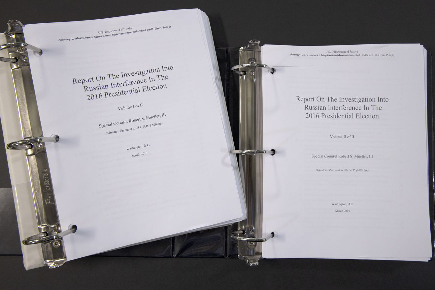 Mueller report: Read the full document