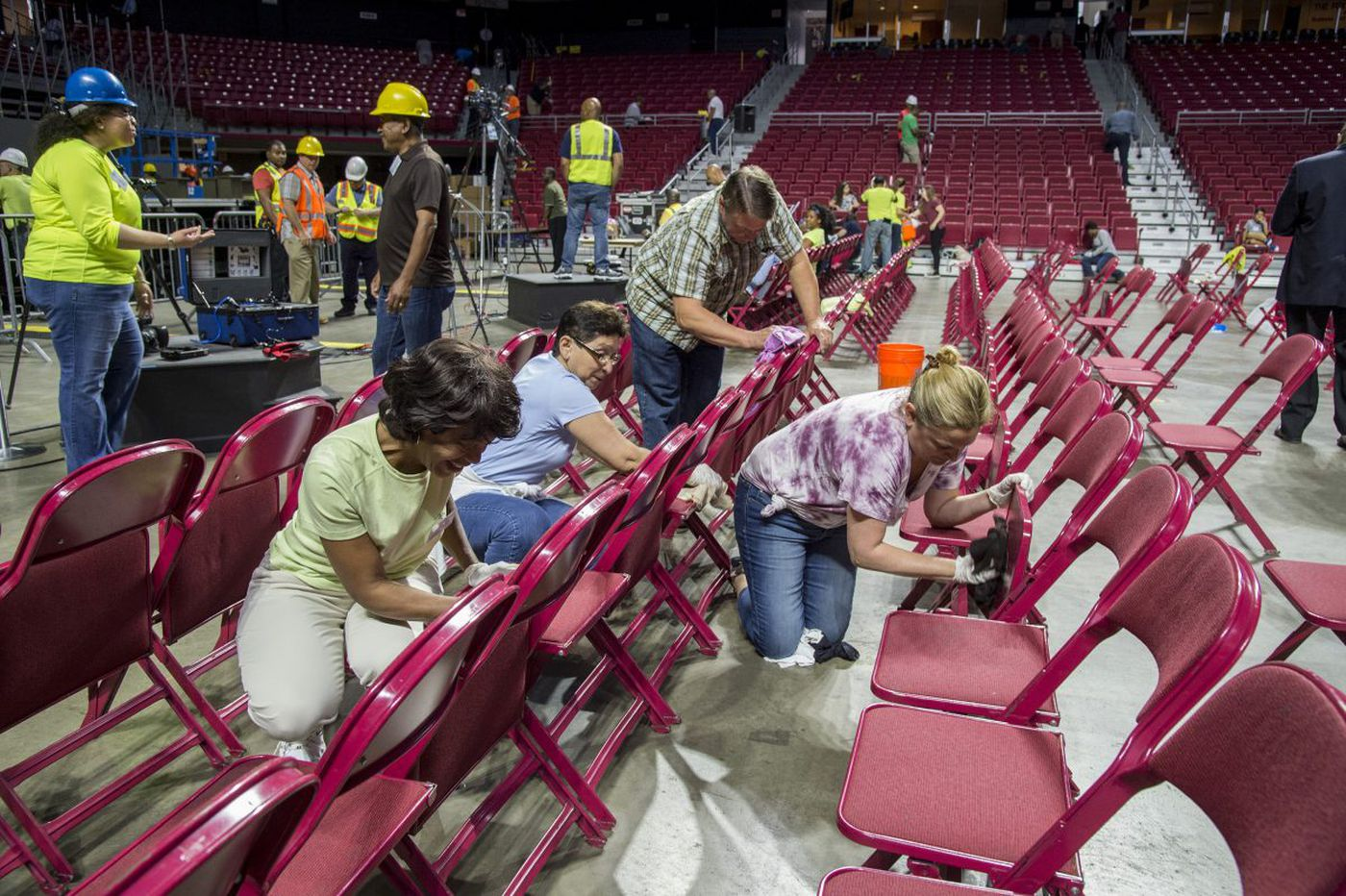 Cleanliness next to godliness as Jehovah's Witnesses scrub Liacouras Center
