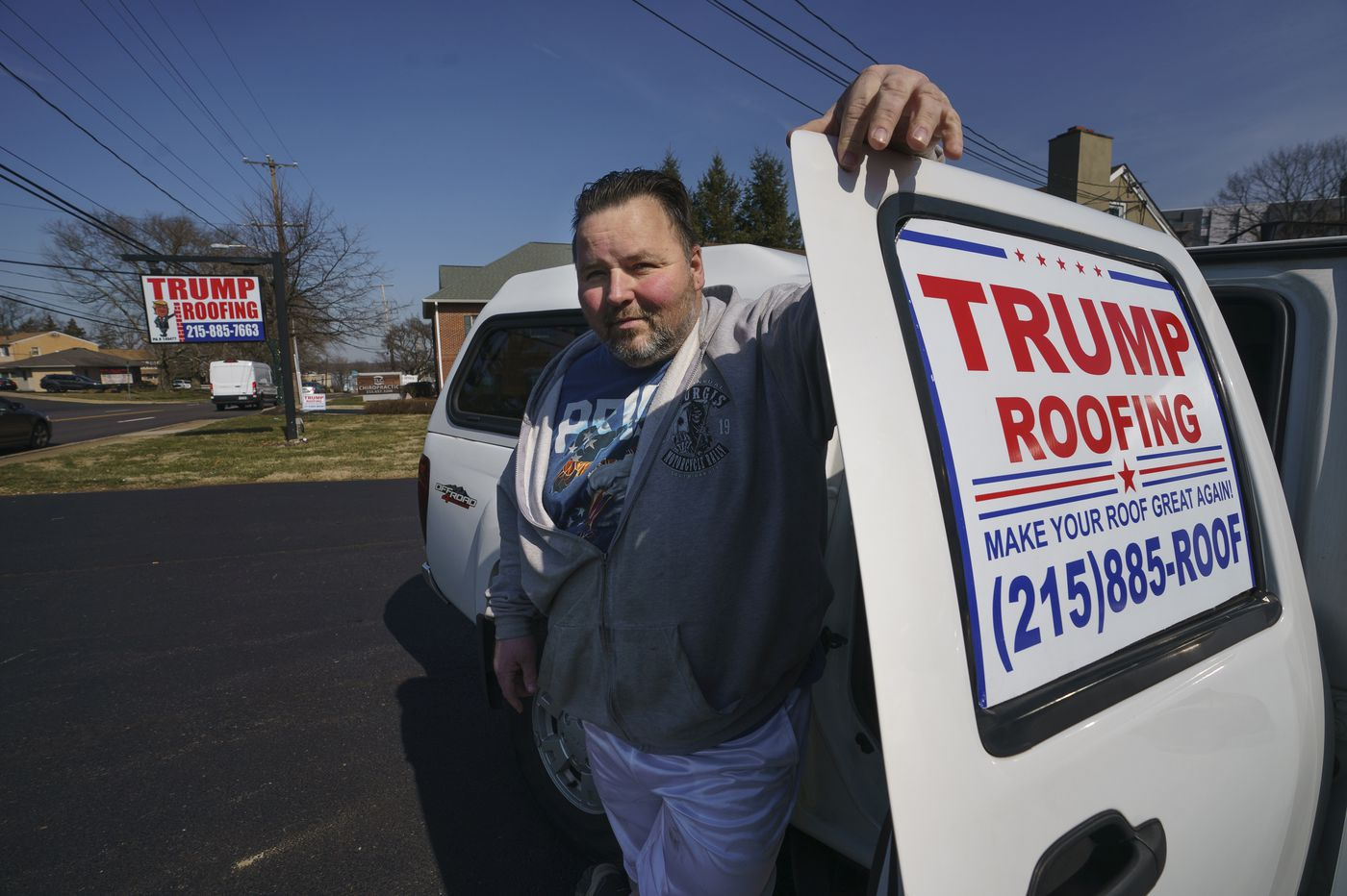 Bucks County Trump supporter aims to make roofs great again