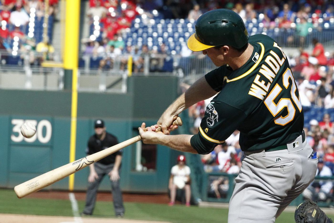 Chester County's Joey Wendle hits grand slam as A's beat Phillies