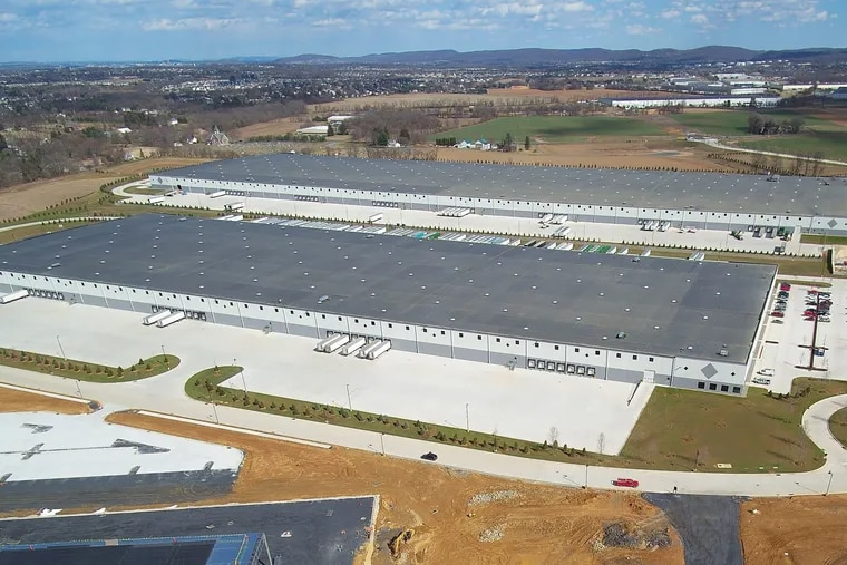 Liberty Property Trust had shifted its focus to industrial projects before it agreed to be acquired by San Francisco-based warehouse giant Prologis Inc. This is a 642,000-square-foot distribution center, owned by Liberty Property Trust, is in Mertztown, Pa.