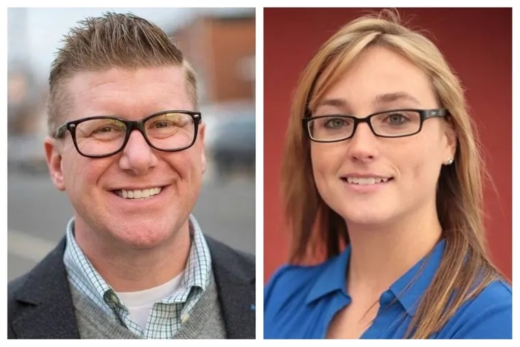 Democrat Mike Doyle (left), a realtor, is challenging Republican State Rep. Martina White (right) in the 2018 general election. Doyle pleaded guilty in 2004 to driving under the influence.