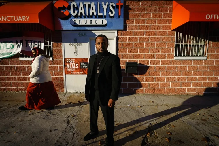 Pastor Keon A. Gerow, in front of the Catalyst Church, is helping congregants access mental health care amid COVID-19 and racial unrest.